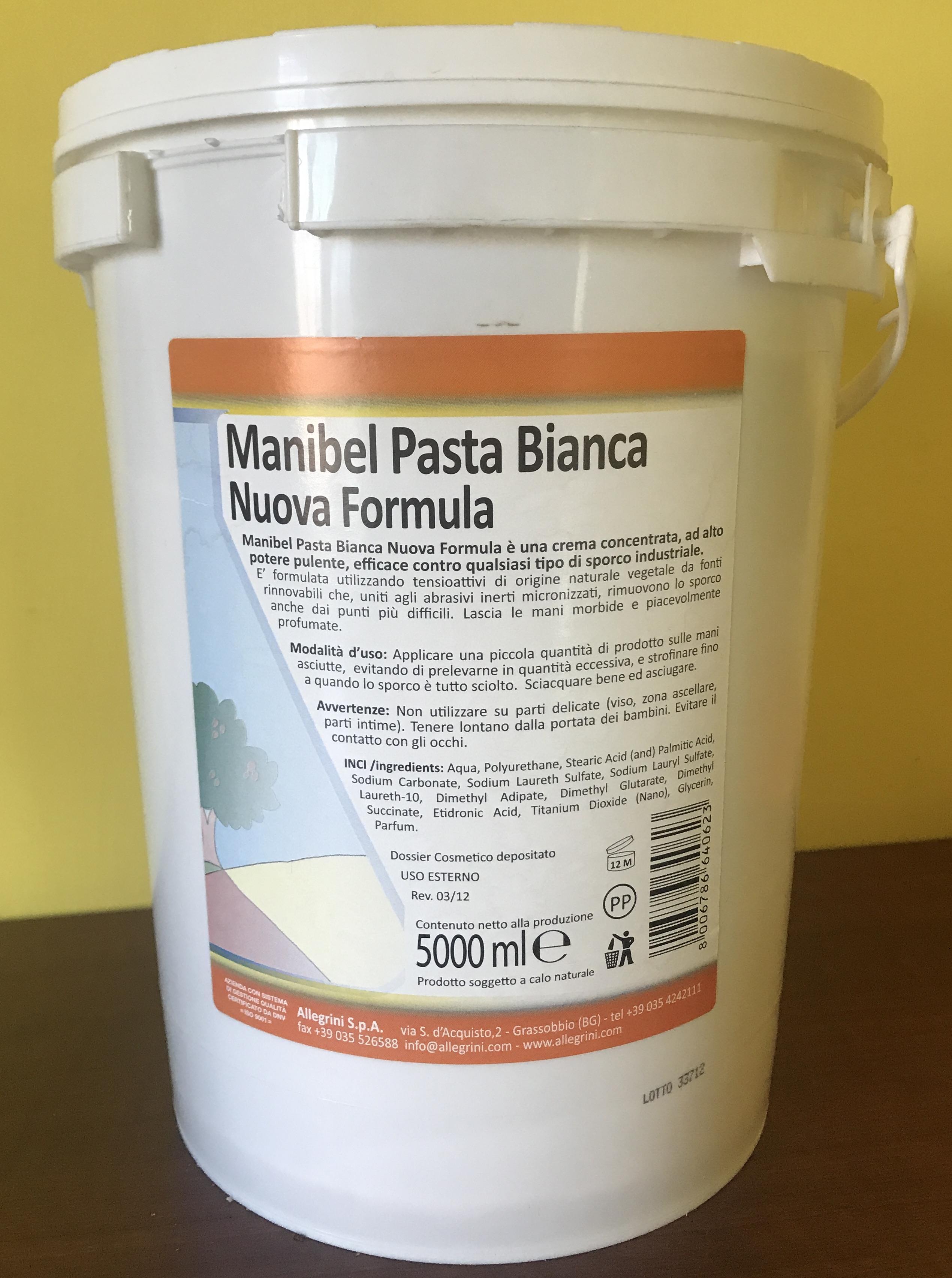 Manibel Pasta Lavamani Bianca Allegrini 4 x 5 kg