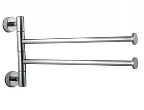 Porta salviette doppio a bandiera per il bagno serie Europe 3SC