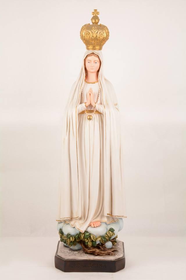 Statua Madonna di Fatima in resina PA917 h. 90