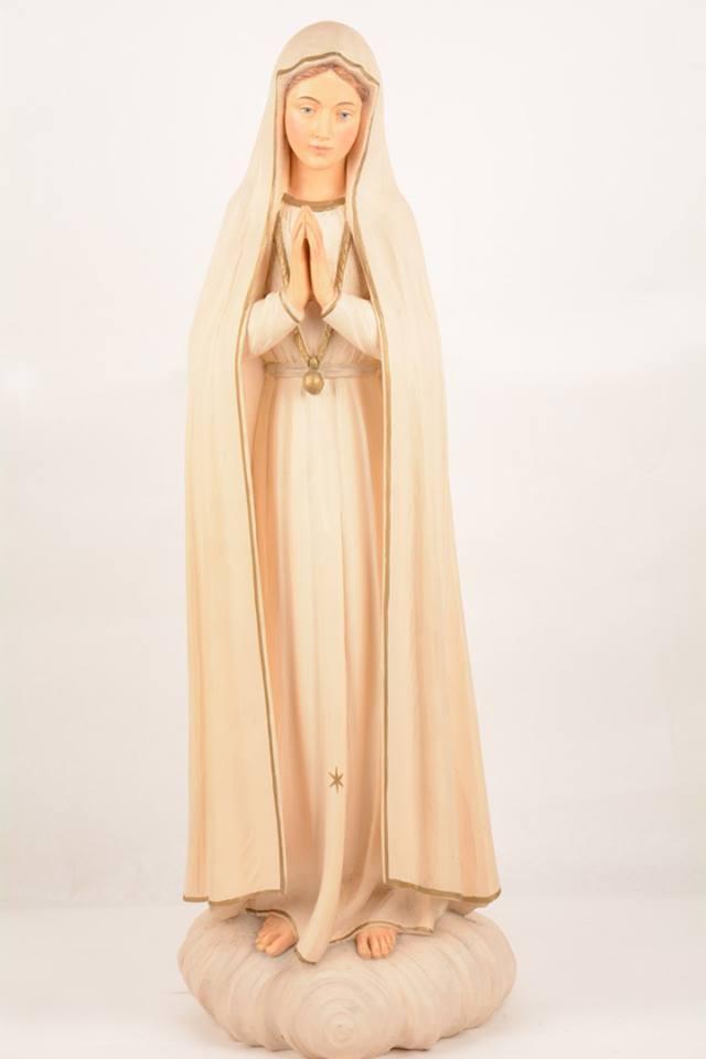 Statua Madonna di Fatima in vetroresina DOL19297 h. 80