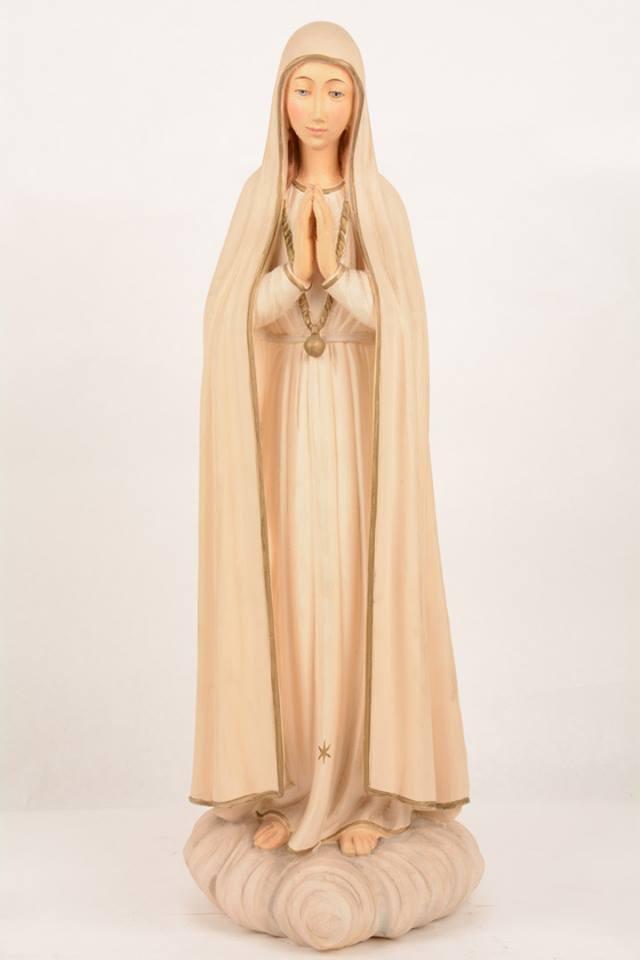 Statua Madonna di Fatima in vetroresina DOL19397 h. 60