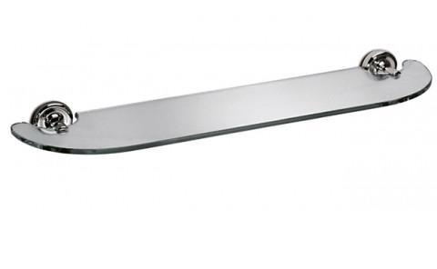 Mensola in cristallo per il bagno serie Giglio 3SC