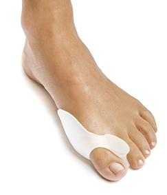 Gel bunion toe reinforced spreader