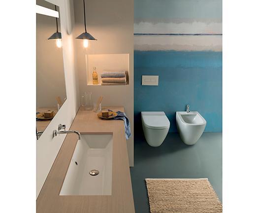 Lavabo per il bagno da incasso cm 105 x 34 Stockholm Globo