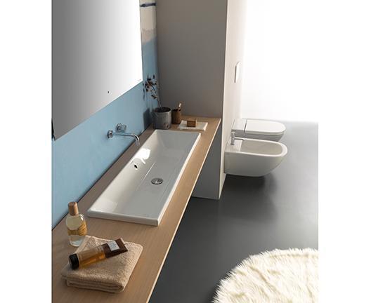 Lavabo per il bagno da incasso cm 90 x 34 Stockholm Globo