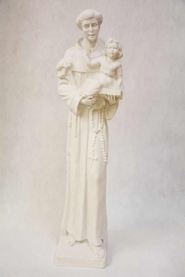 Statua Sant'Antonio in polvere di marmo DEC38-80