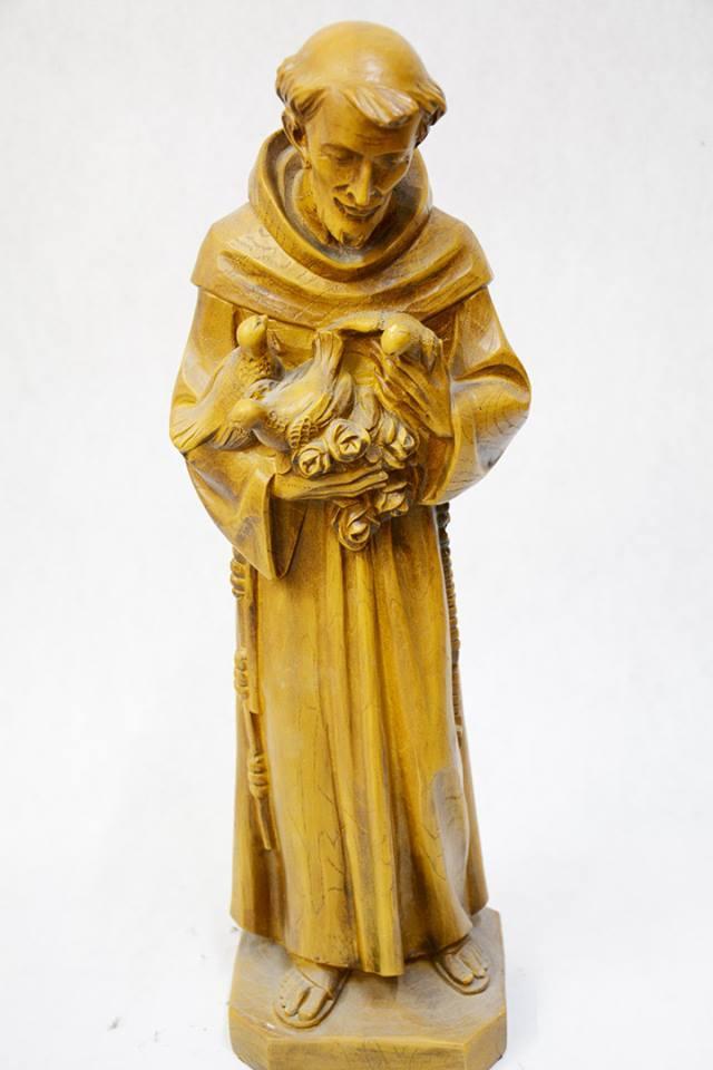 Statua San Francesco in legno VALGSF52 h. 52