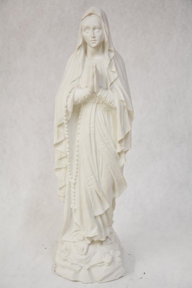 Statua Madonna di Lourdes in polvere di marmo cm 50