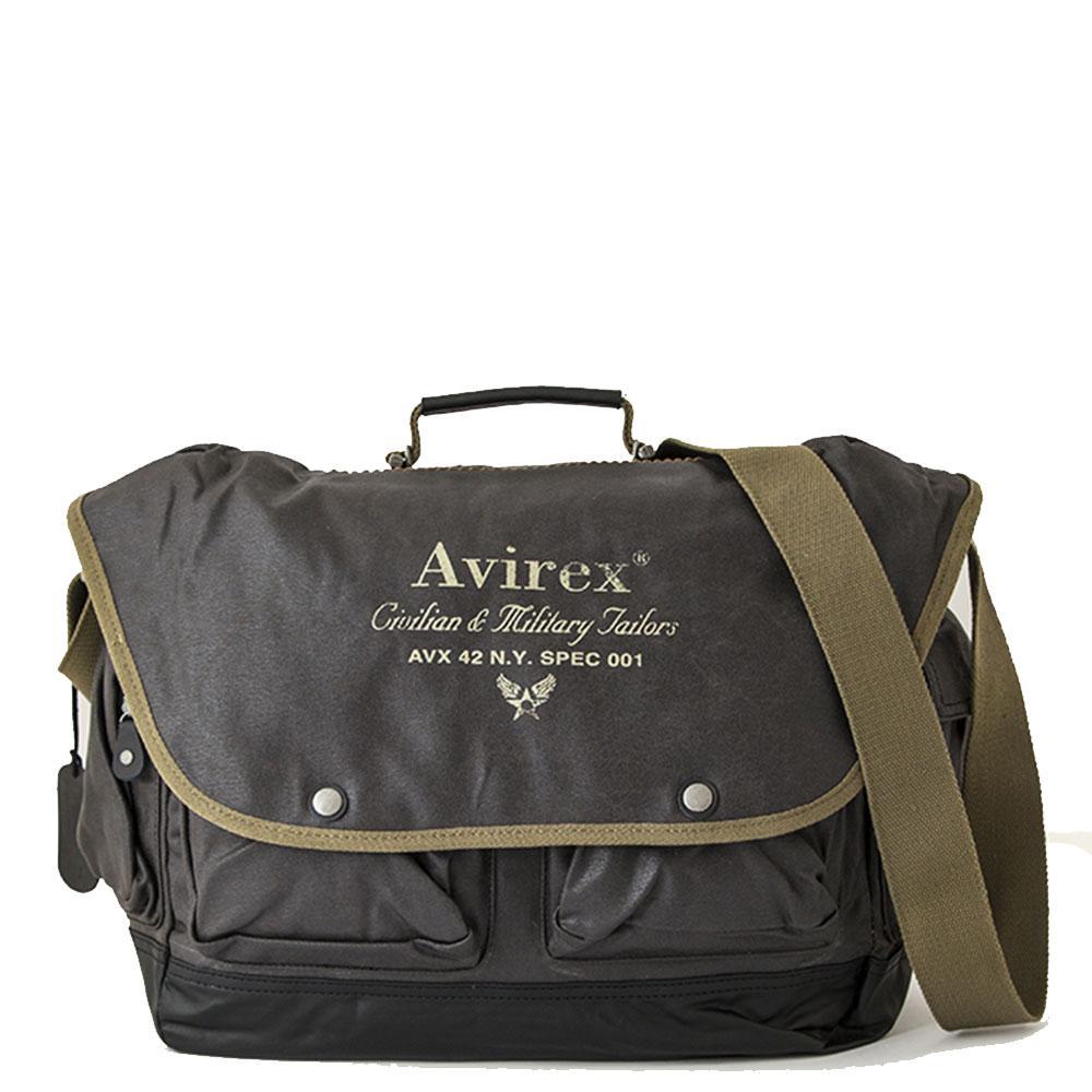 Avirex - Alifax - Borsa a tracolla da viaggio 1 scomparto verde scuro cod.  A4 4882f1fb83c
