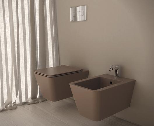 Bidet sospeso per il bagno cm 54 x 35 Incantho Globo