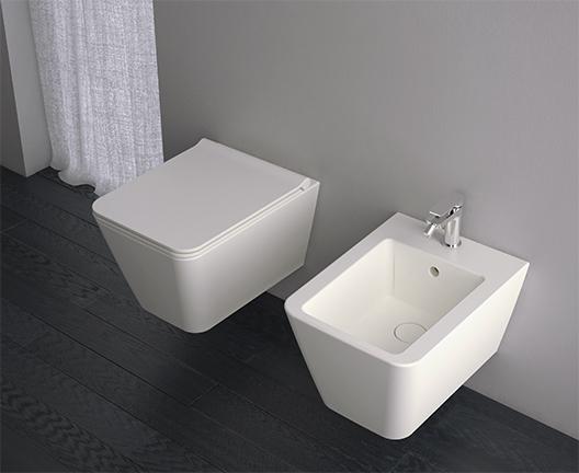 Vaso e bidet a terra per il bagno cm 54 x 35 Incantho Globo