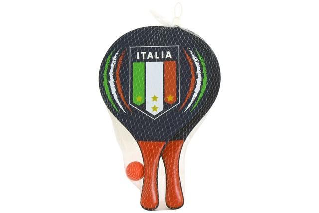 RACCHETTE SPIAGGIA ITALIA 24X38/0,8CM 38895 GLOBO