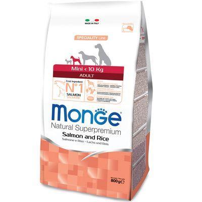 MONGE MINI CANE ADULT  MONOPROTEICO SALMONE E RISO