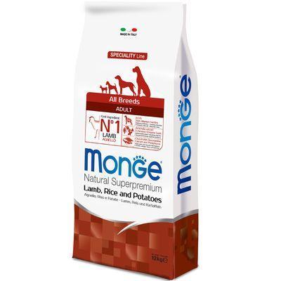 MONGE ALL BREEDS CANE ADULT MONOPROTEICO AGNELLO E RISO E PATATE