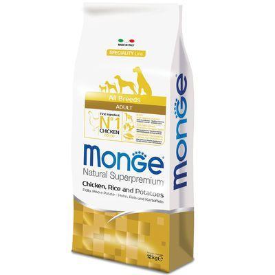 MONGE ALL BREEDS CANE ADULT MONOPROTEICO POLLO RISO E PATATE