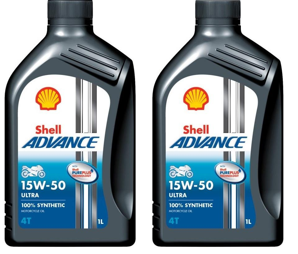 Shell Advance 4T Ultra 15w/50 2 x 1 litro