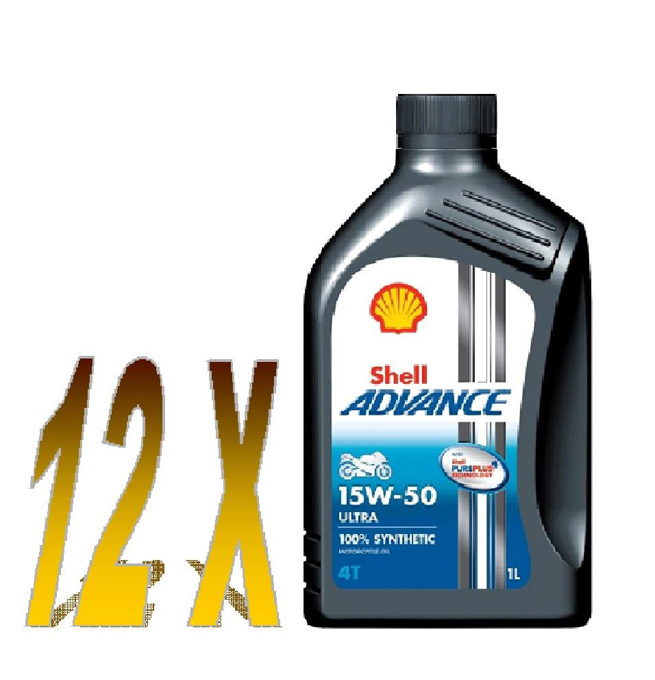 Shell Advance 4T Ultra 15w/50 barattolo 12x1 litro