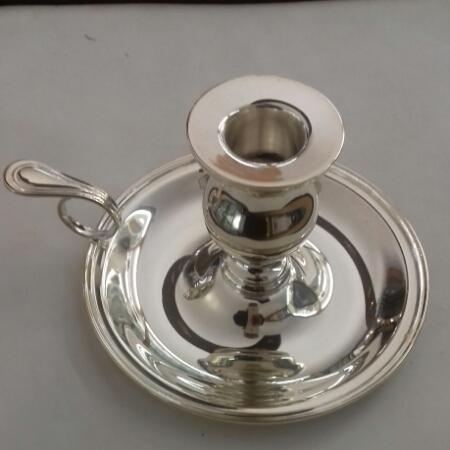 Portacandela Bugia Inglese in argento 800 in vendita on line   BRUNI GIOIELLERIA