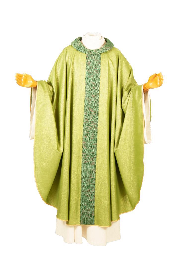 Casula CMB1KG Verde - Lana Lurex - Stolone Seta Greggia