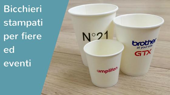 Bicchieri personalizzati per fiere ed eventi aziendali