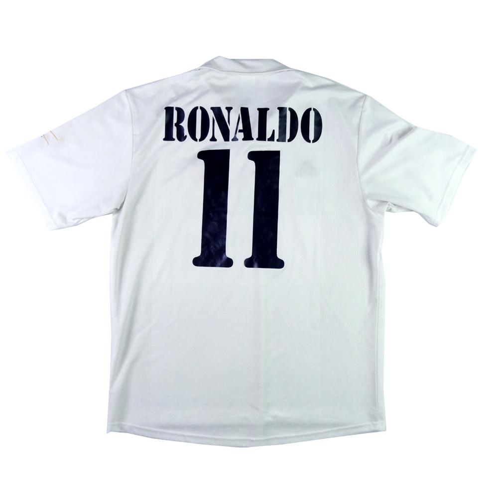 0ad84e3d5 2002-03 Real Madrid Centenario shirt Home Ronaldo   11 L