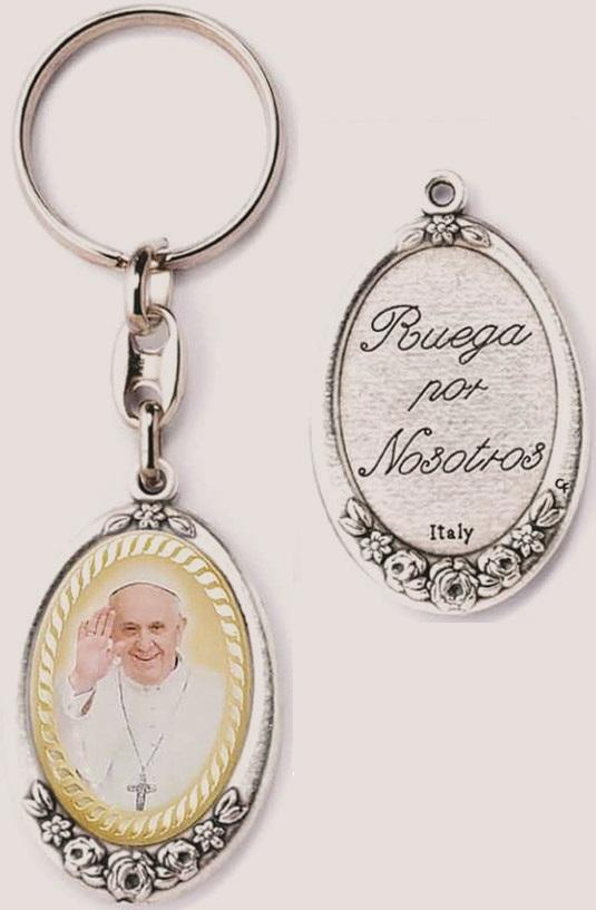 Portachiavi metallo Papa Francesco