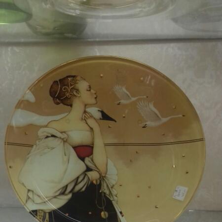 Piatto regalo in Cristallo e Oro vendita on line | BRUNI GIOIELLERIA