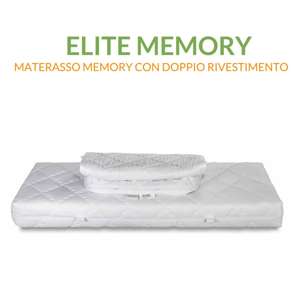 Materasso Singolo Memory 80x190 con doppia fodera | Materasso Elite Memory 80x190