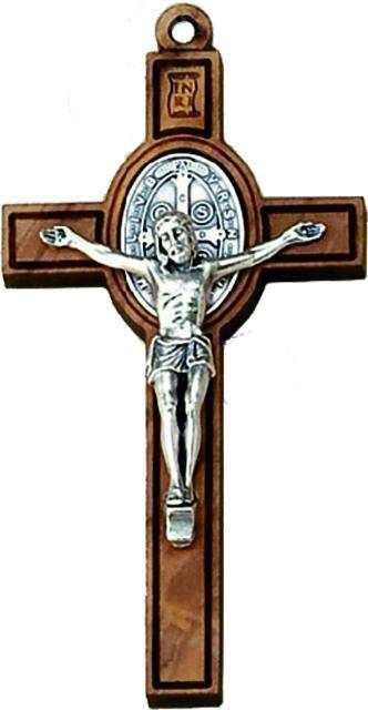 Croce in ulivo S. Benedetto cm. 4 con laccio