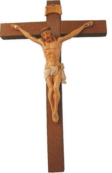 Croce legno corpo pvc cm. 54
