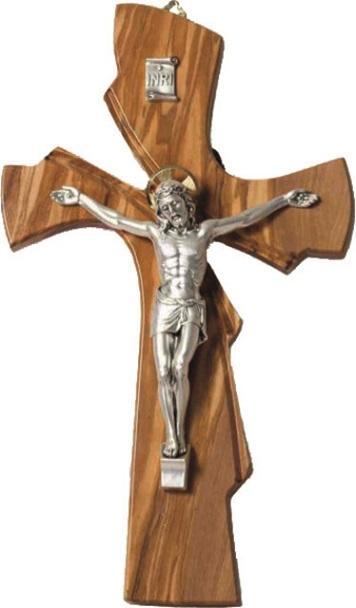 Croce ulivo corpo metallo cm. 34