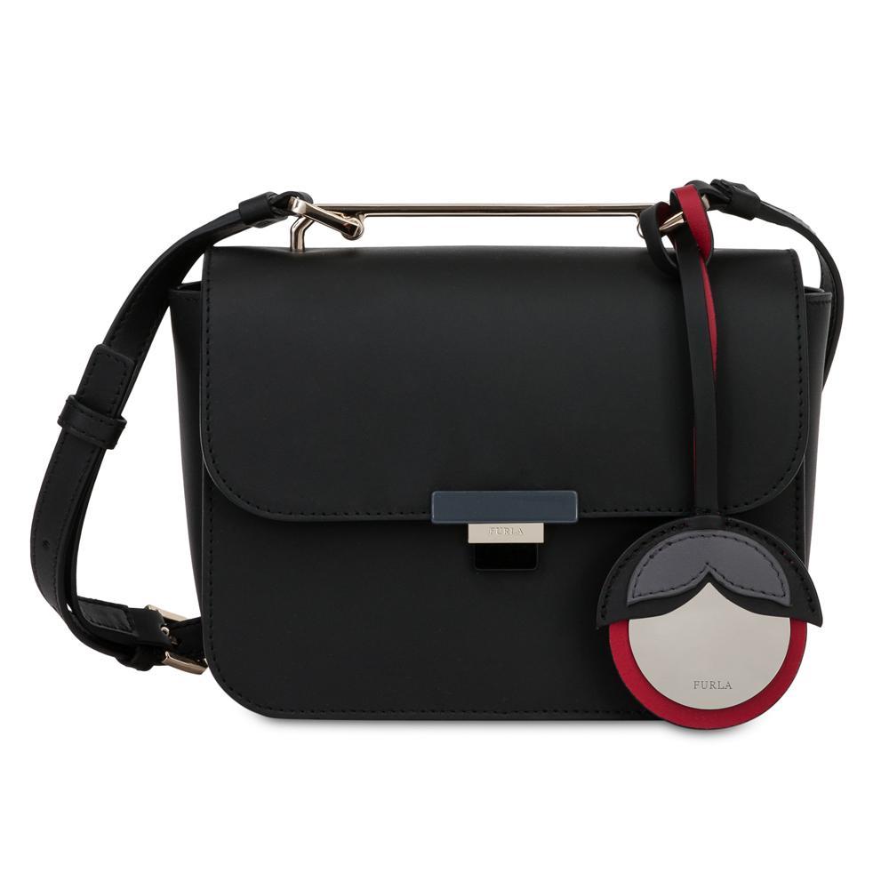 Hand And Shoulder Bag Furla Elisir 929454 Onyx Mercurio D Dome Small Authentic