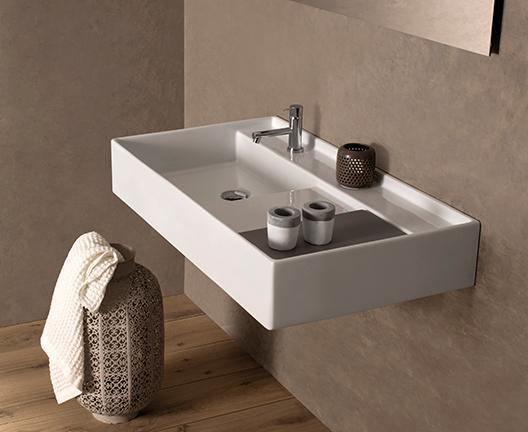 Lavabo sospeso per il bagno cm 71 x 51 Display Globo