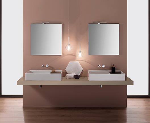 Lavabo da appoggio per il bagno cm 71 x 51 Display Globo