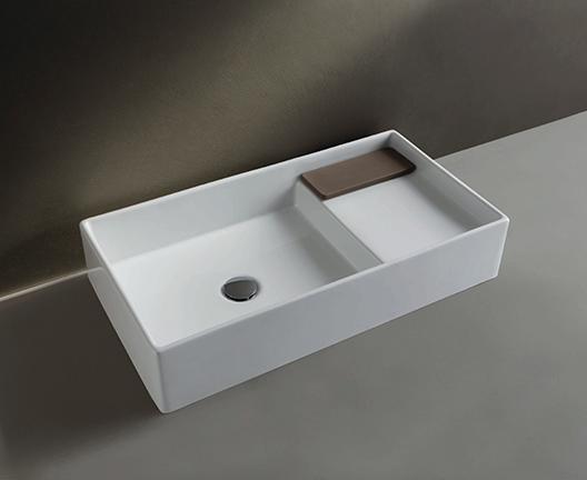 Lavabo da appoggio per il bagno cm 75 x 40 Display Globo