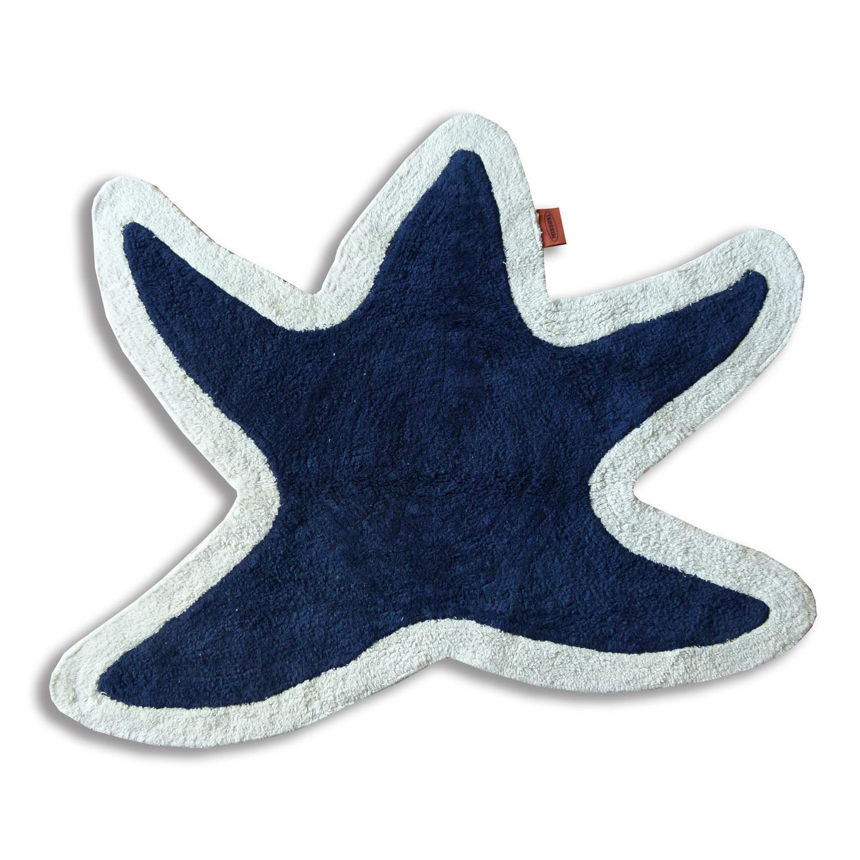 Missoni Home Tappeto bagno Lohja T501 stella marina fondo blu bordo ...