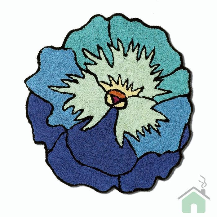 Missoni  Home Bagno Tappeto Parma Fiore Turchese blu var5 pesante