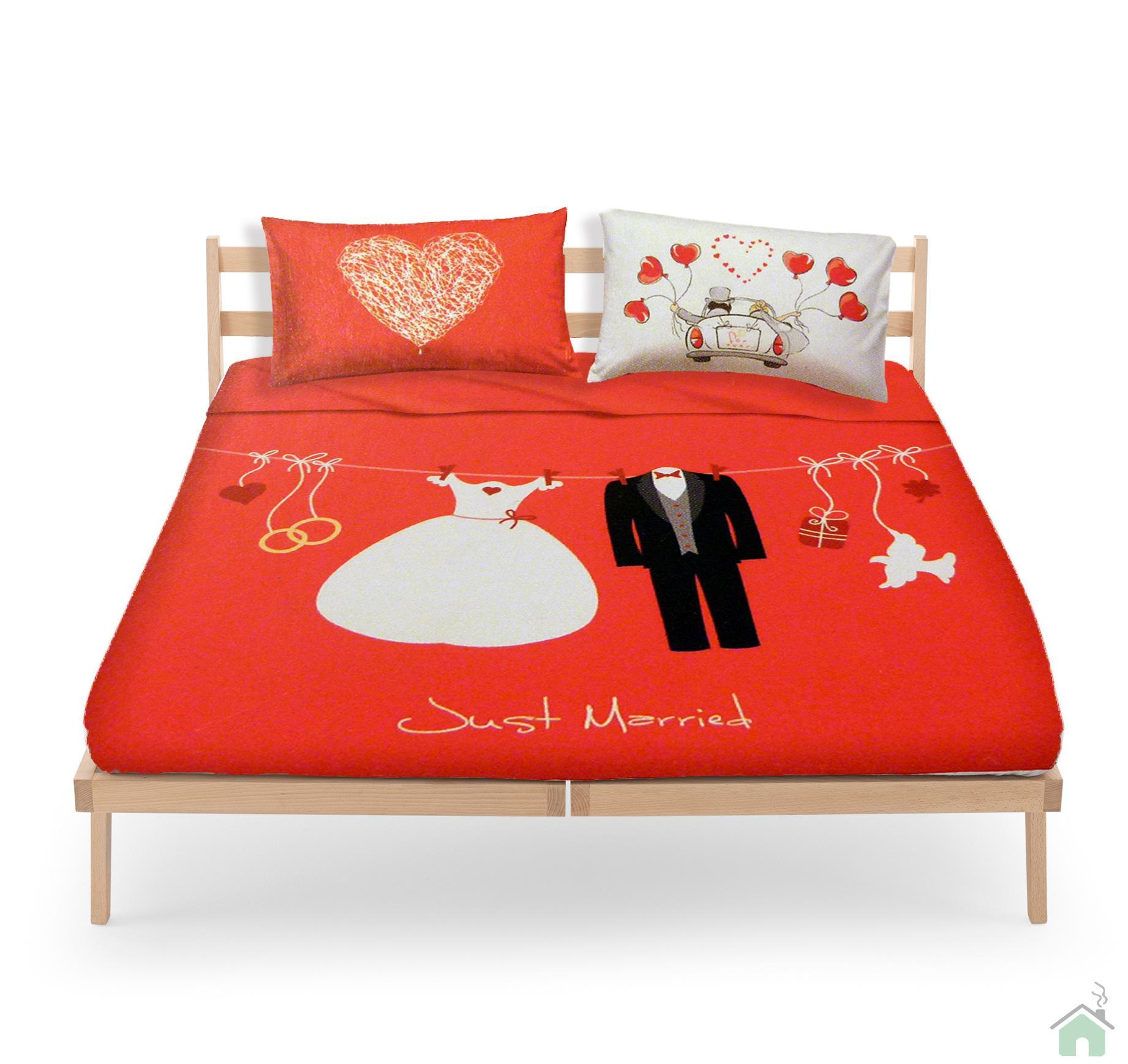 Set lenzuola bassetti love is a couple just married - Bassetti tovaglie ...