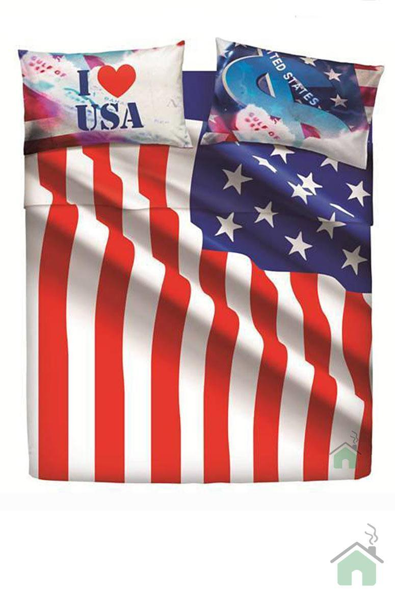 """Set copripiumino una piazza e mezza """"Usa Flag"""" by Bassetti - New Collection"""