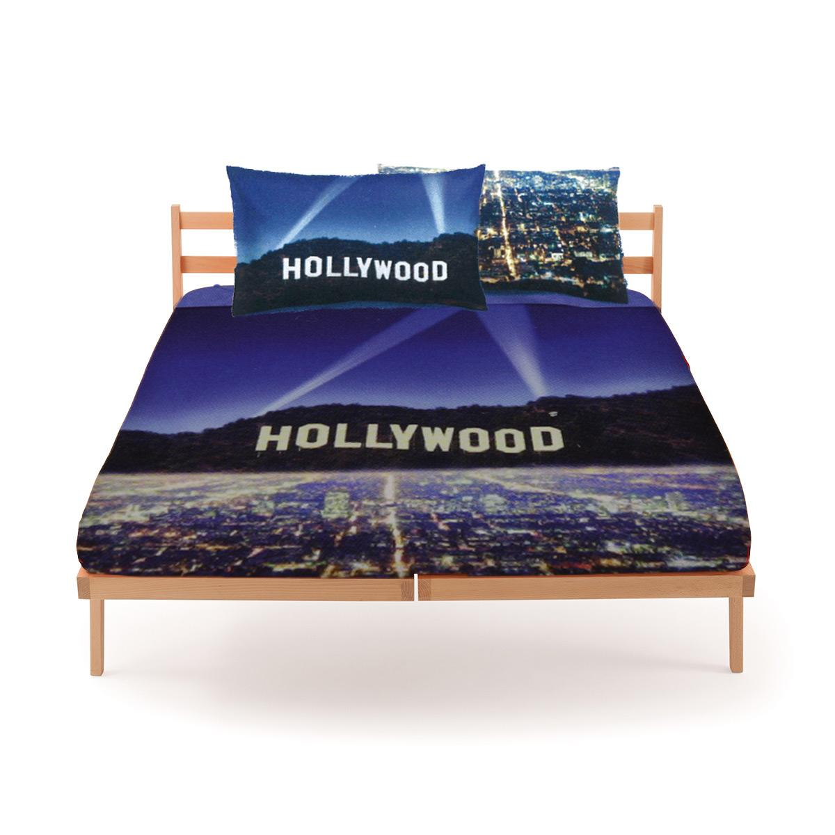 Set copripiumino bassetti hollywood per letto matrimoniale - Set letto matrimoniale ...