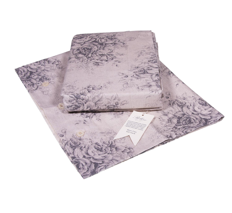 Set copripiumino misto lino bellora connor per letto - Disegno letto matrimoniale ...