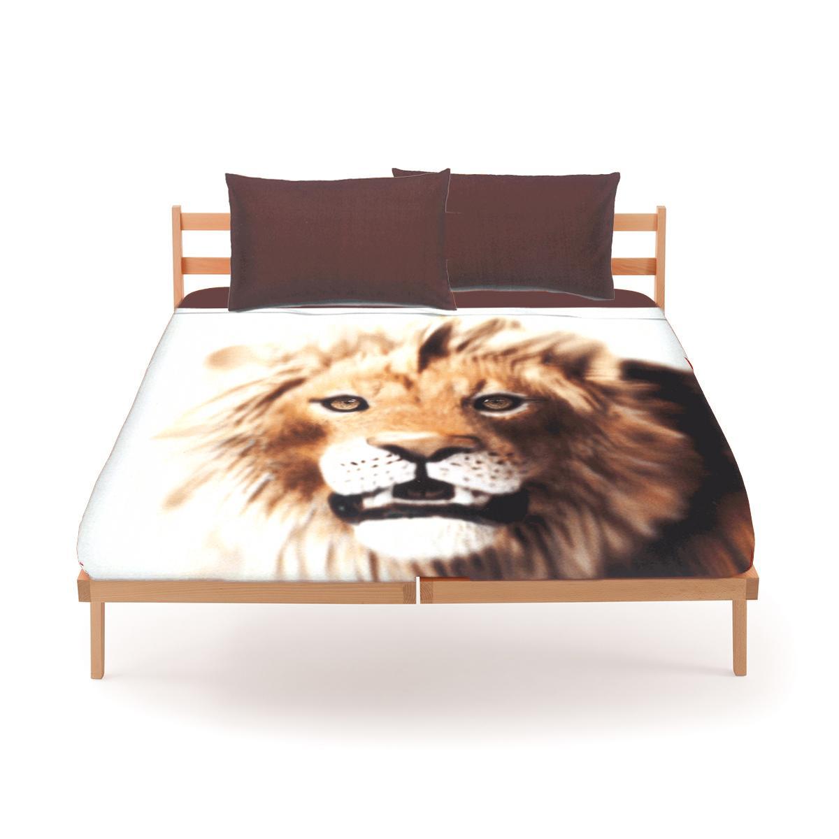Set lenzuola bassetti by gardone per letto singolo fondo bianco leone - Piumini letto singolo bassetti ...