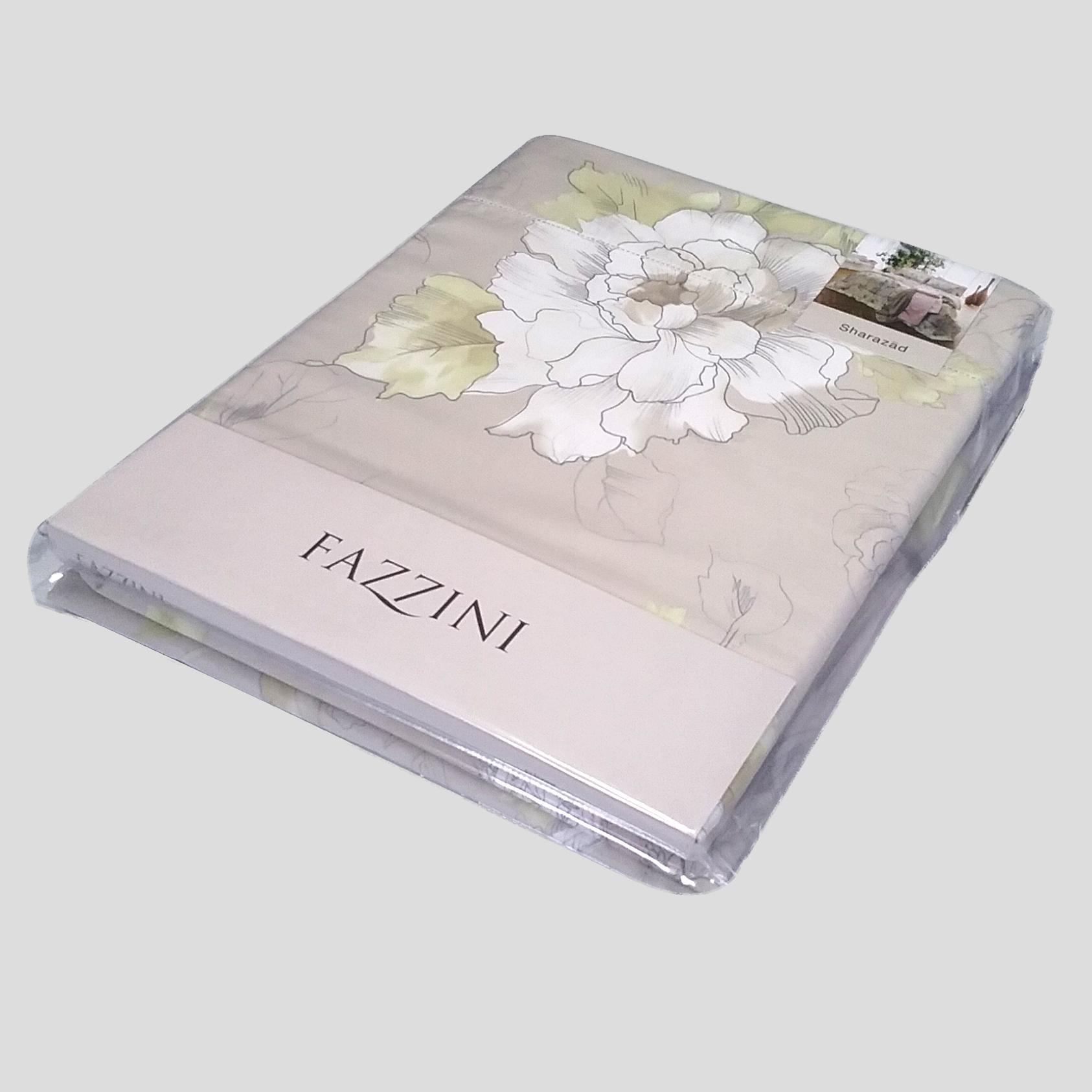 FAZZINI-completo-copripiumino-Maxi-matrimoniale-SHARAZAD-verde-mela