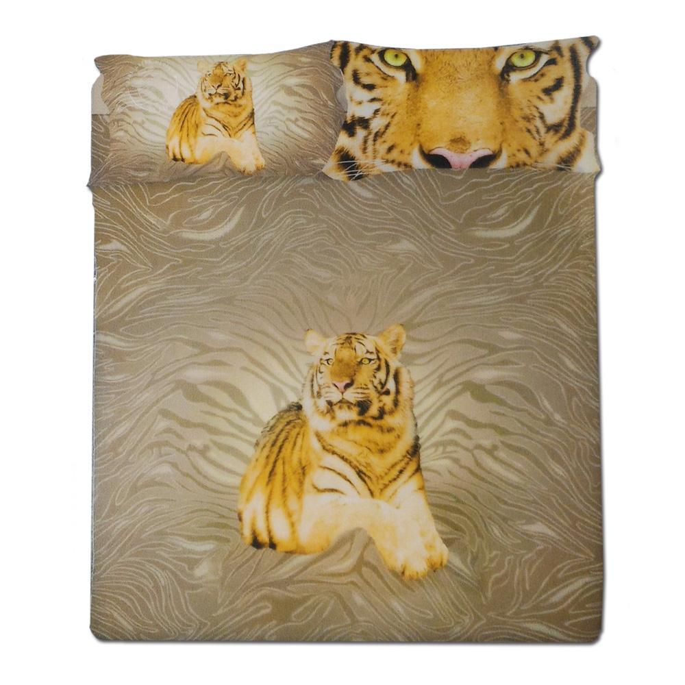 Completo lenzuola letto 1 piazza singolo tiger by gabel oro - Completo lenzuola letto singolo ...