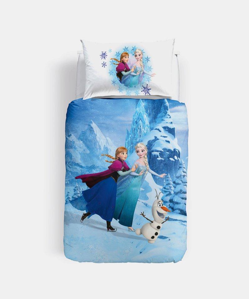 Parure copripiumino frozen elegance di caleffi letto singolo una piazza disney stampa digitale - Letto di frozen ...