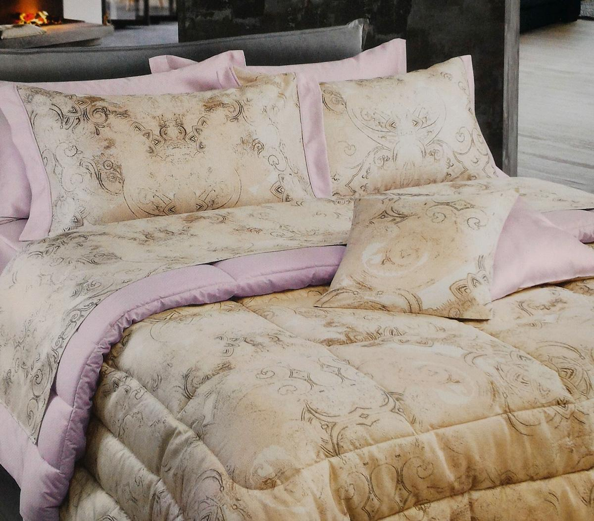 Set lenzuola per letto matrimoniale platinum satin rosa selvatica - Set letto matrimoniale ...