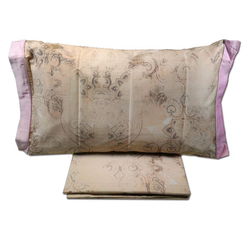 Set copripiumino per letto matrimoniale platinum satin rosa selvatica - Set letto matrimoniale ...
