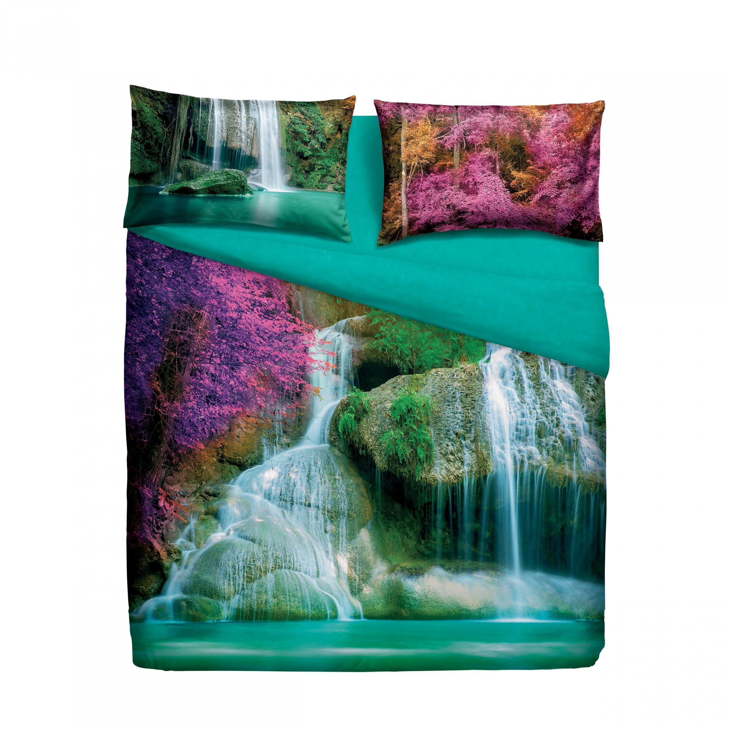 Set copripiumino letto singolo 1 piazza bassetti water falls stampa digitale - Piumini letto singolo bassetti ...