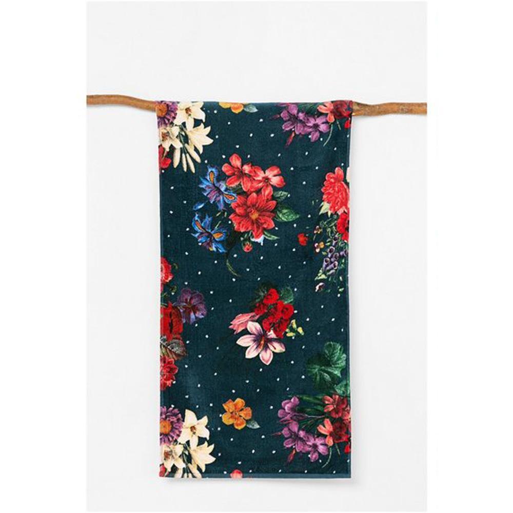 Desigual telo mare in spugna 95x150 cm VELOUR DARK floral multicolore