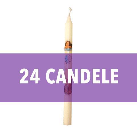 Confezione 24 Candele Battesimo Mod. Betlemme